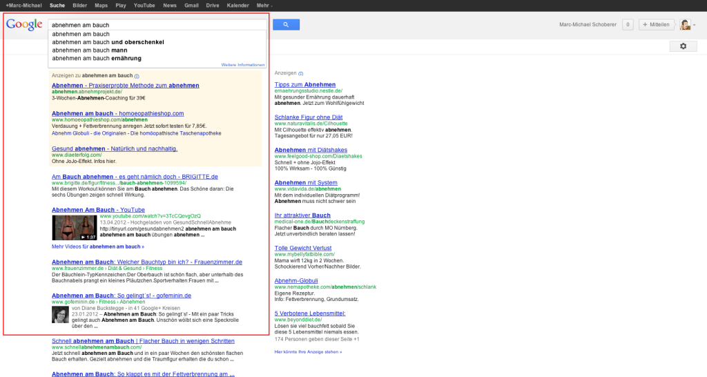 LSI-Keywords in Google
