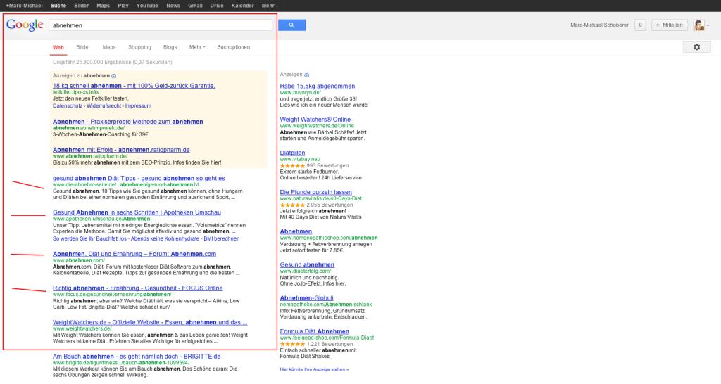 abnehmen - Google-Suche