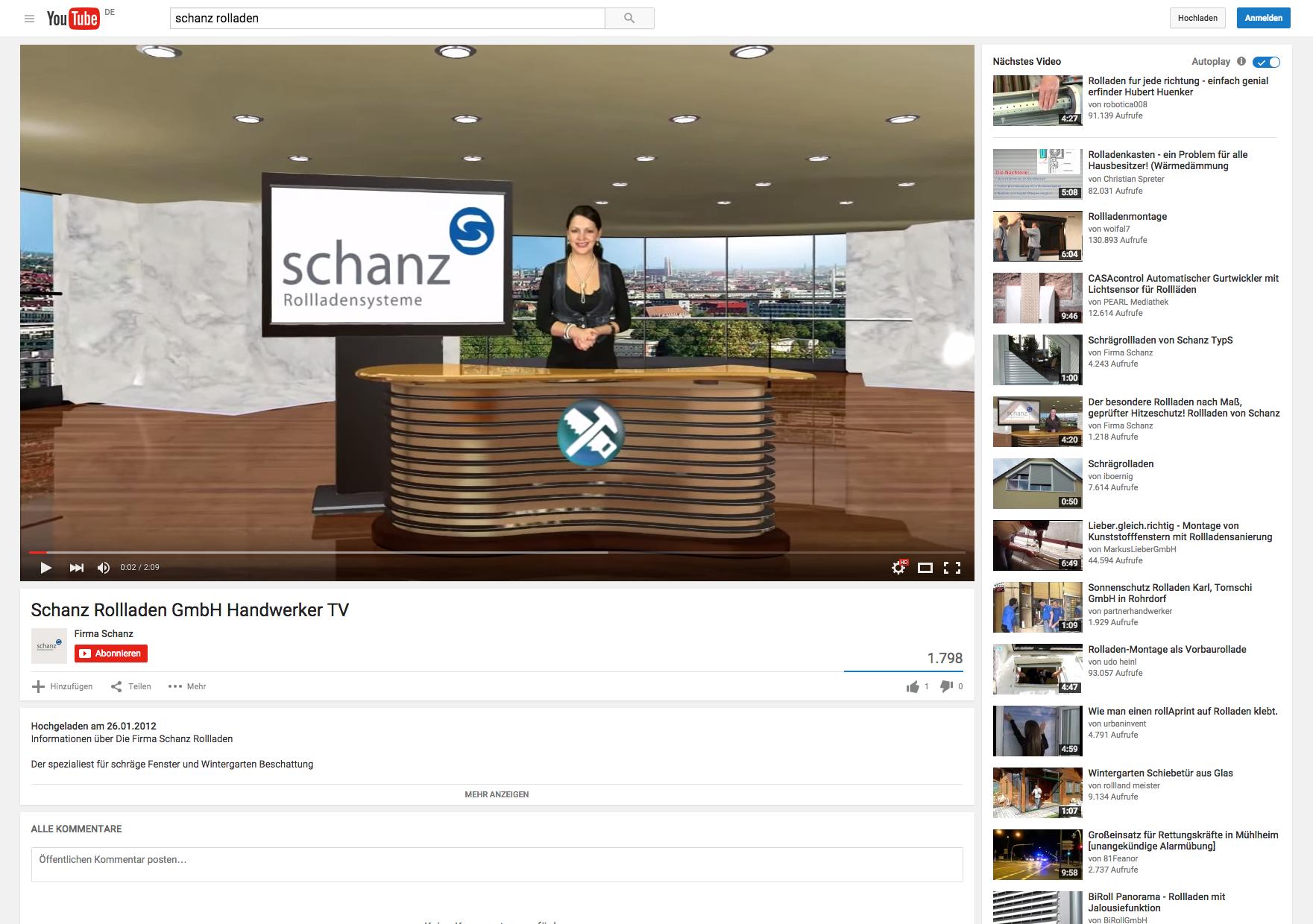 Youtube Kanalbetreuung und Video Produktion