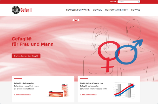 Cefagil Website Ansicht