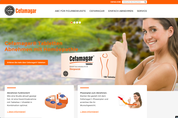 Cefamagar Website Ansicht