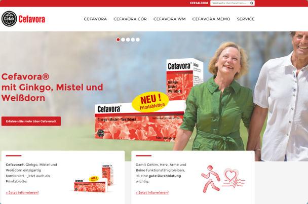 Cefavora Website Ansicht