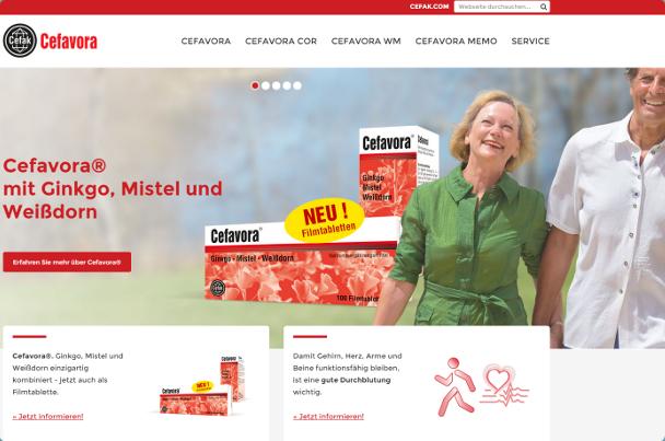 Cefavora Website Ansicht