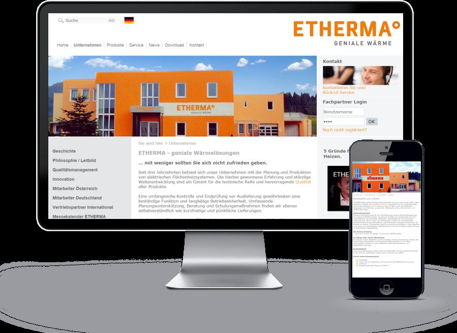 Etherma – Geniale Wärme
