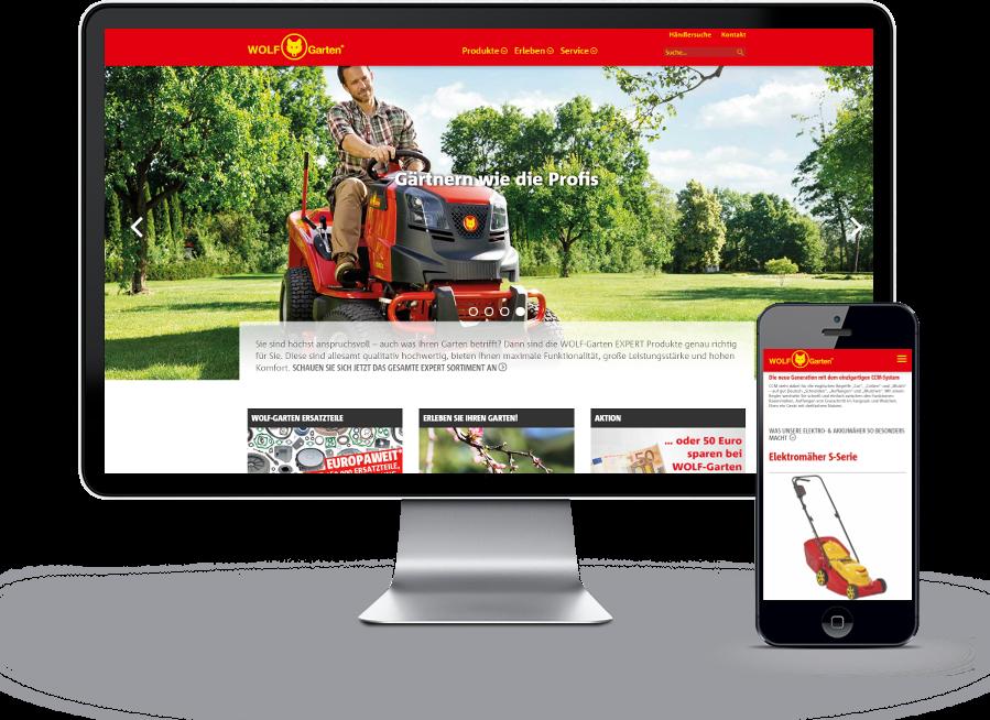 Ansicht Website WOLF-Garten