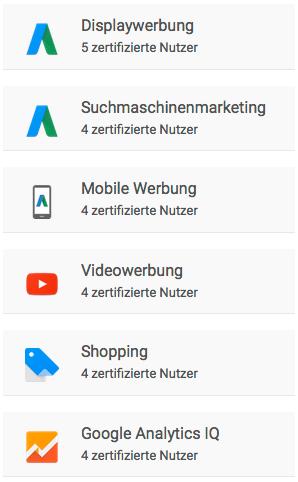 Oplayo Google Partner Zertifizierungen